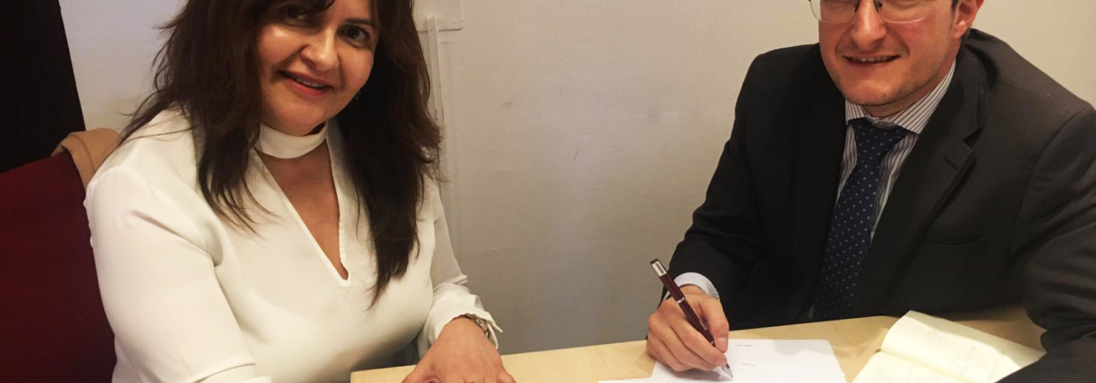 firma de acuerdo con la asociación de detectives privados