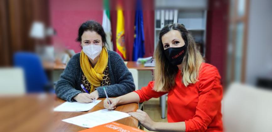 firma de convenio con el colegio preosional de podólogos de Andalucía